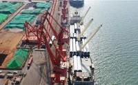 连云港港风电设备出口强势增长