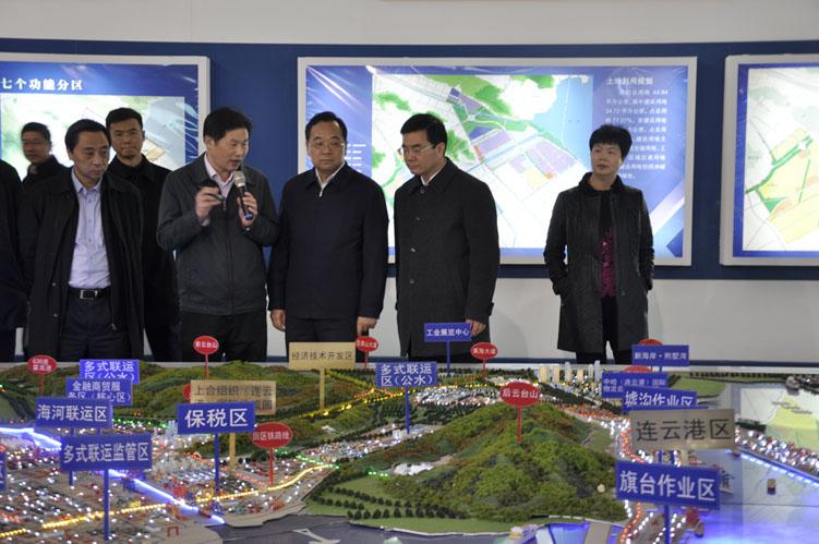 12月5日张雷副省长一行参观展厅